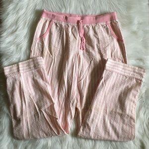 Victoria's Secret Pink+White StripeSparkly PJ Pant